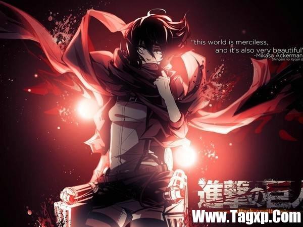 《进击的巨人》主角三笠