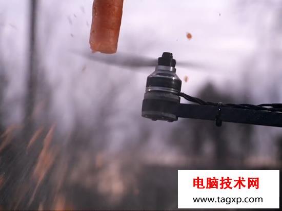 实测高速转动下扇叶能砍瓜切菜,别轻视无人机