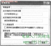 PowerPoint2007设置文件访问密码
