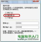 """许看不许改 为WPS文档加上""""保护锁"""""""