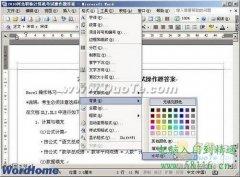 Word2003的文档设置文字水印